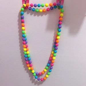 Rainbow bubblegum necklace 🌈